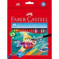 مداد رنگی آبرنگی 48 رنگ جعبه مقوایی فابرکاستل