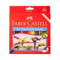مداد رنگی آبرنگی 24رنگ جعبه مقوایی فابرکاستل