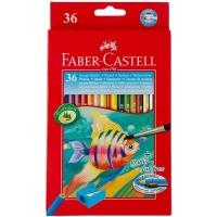 مداد رنگی آبرنگی 36رنگ جعبه مقوایی فابرکاستل