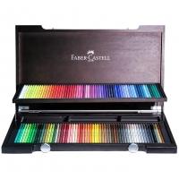 مداد رنگی جعبه چوبی 120 رنگ پلی کروم فابر کاستل