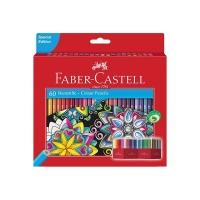 مداد رنگی ۶۰ رنگ مقوایی طرح گل فابر کاستل